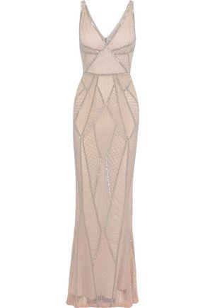 RACHEL GILBERT Beaded tulle gown