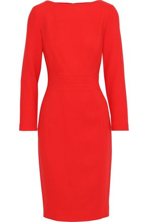 LELA ROSE Stretch-wool crepe dress