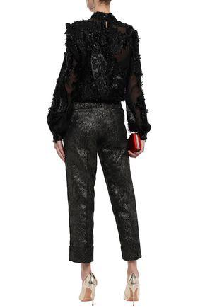 J.MENDEL Metallic fil coupé blouse