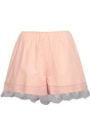 PRADA Organza-trimmed cotton shorts