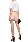 PRADA Organza-trimmed cotton shorts
