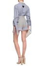 PRADA Pleated organza-trimmed cotton shorts