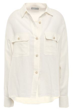 VINCE. Cotton and modal-blend twill shirt