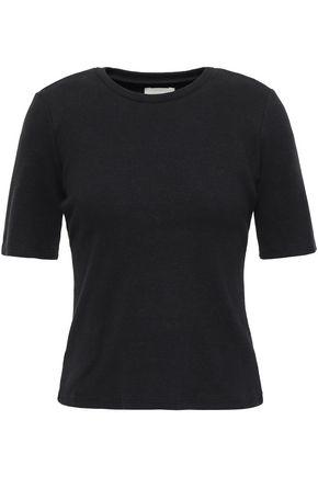 SIMON MILLER Ribbed cotton-blend jersey T-shirt