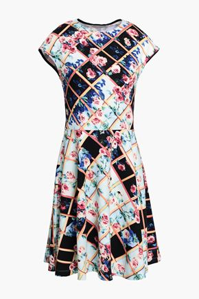 d9f74e223b3 MARY KATRANTZOU Printed stretch-jersey mini dress