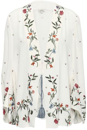 TALITHA Embroidered silk crepe de chine jacket