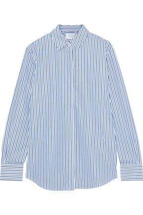 LA LIGNE Bleu Man striped cotton-poplin shirt