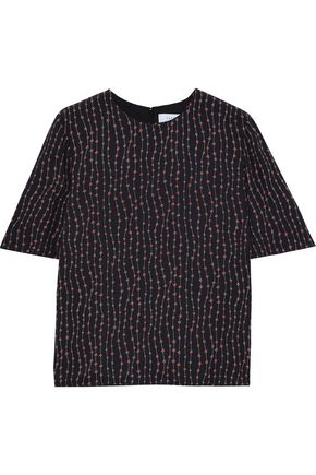 LA LIGNE Stars Luxe printed crepe de chine blouse