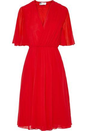 LANVIN Wrap-effect silk-georgette dress