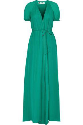 LANVIN Silk-georgette wrap gown