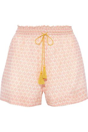 TALITHA Vera printed cotton and silk-blend shorts