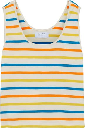 LA LIGNE US Navy striped cotton-jersey tank