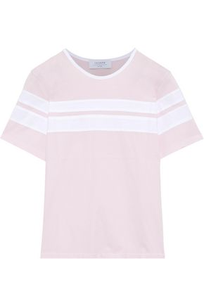 LA LIGNE Double Stripe cotton-jersey T-shirt