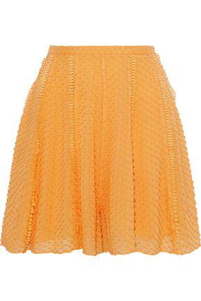 RACHEL GILBERT Fil coupé silk and cotton-blend shorts