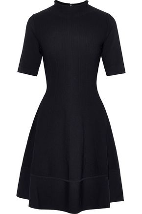 LELA ROSE Flared stretch-knit mini dress