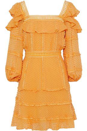 RACHEL GILBERT Ollie cutout fil coupé silk and cotton-blend mini dress