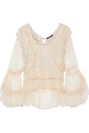 LOVE SAM Ruffled georgette blouse