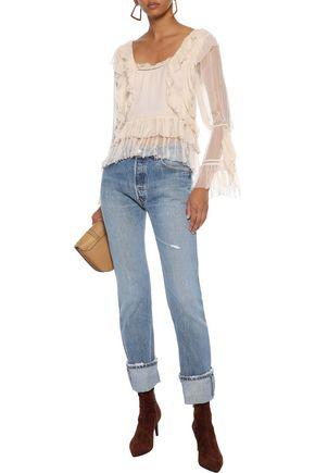 LOVE SAM Ruffled georgette blouse
