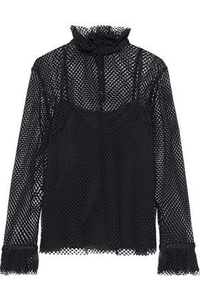 PHILOSOPHY di LORENZO SERAFINI Ruffle-trimmed lace blouse