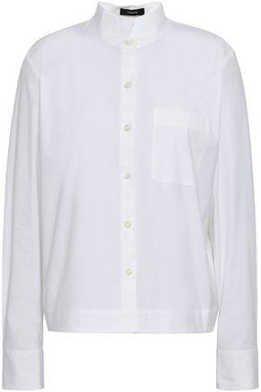 THEORY Cotton-blend poplin shirt