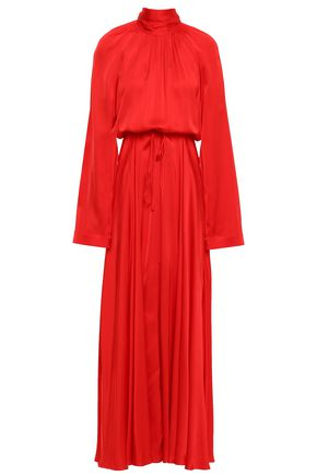 SOLACE LONDON Akan satin turtleneck maxi dress