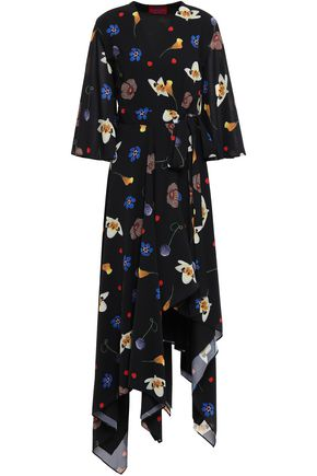 SOLACE LONDON Darline voile wrap dress