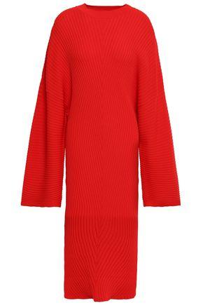 SOLACE LONDON Nadi ribbed-knit dress