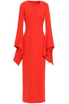 SOLACE LONDON Laroche stretch-crepe maxi dress