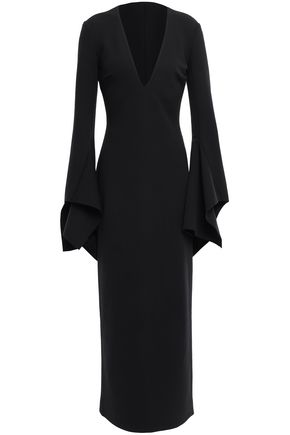 SOLACE LONDON Laroche stretch-crepe maxi dress