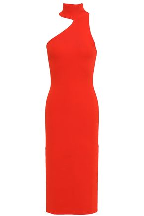 SOLACE LONDON Annecy cutout ponte dress