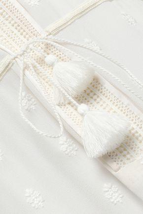TALITHA Embellished printed cotton and silk-blend kaftan