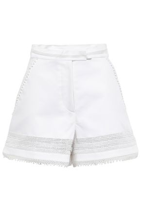 TALITHA Crochet-trimmed cotton shorts
