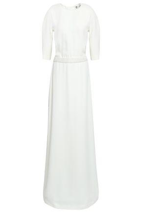 LANVIN Appliquéd open-back crepe gown