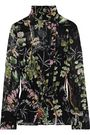 PHILOSOPHY di LORENZO SERAFINI Floral-print silk-chiffon peplum blouse