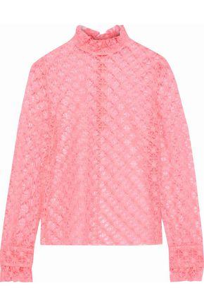 PHILOSOPHY di LORENZO SERAFINI Ruffle-trimmed crocheted blouse