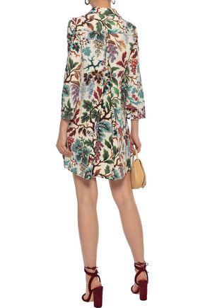 PHILOSOPHY di LORENZO SERAFINI Printed linen and silk-blend mini dress