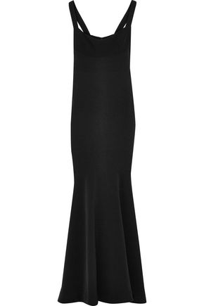 RACHEL GILBERT Belinda fluted stretch-crepe gown