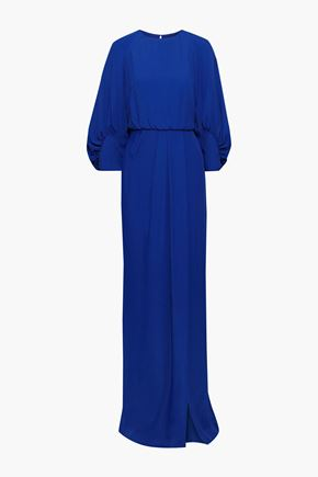 LELA ROSE Split-front cloqué gown