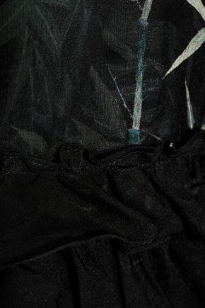 PHILOSOPHY di LORENZO SERAFINI Printed silk-chiffon dress