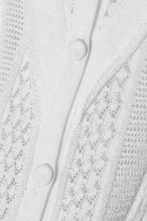 PHILOSOPHY di LORENZO SERAFINI Ruffle-trimmed pointelle-knit top