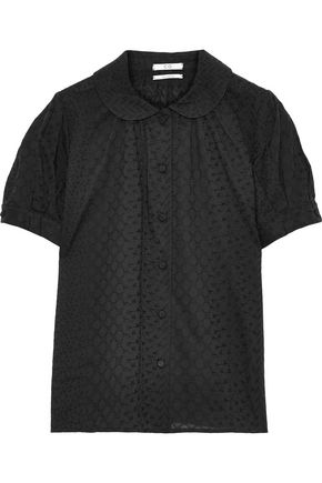CO Embroidered cotton-voile shirt