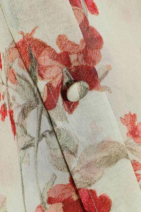 PHILOSOPHY di LORENZO SERAFINI Ruffle-trimmed floral-print silk-georgette shirt