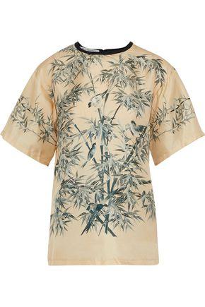 PHILOSOPHY di LORENZO SERAFINI Printed silk-faille blouse