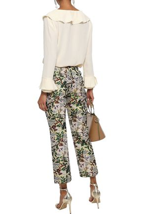 PHILOSOPHY di LORENZO SERAFINI Ruffled crepe de chine blouse