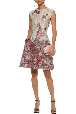 ALBERTA FERRETTI Flared brocade mini dress