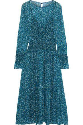 PHILOSOPHY di LORENZO SERAFINI Shirred floral-print silk-chiffon midi dress