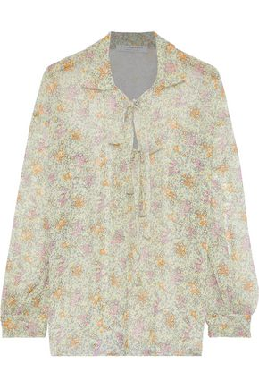 113732f37f99d8 PHILOSOPHY di LORENZO SERAFINI Pussy-bow floral-print silk-chiffon blouse