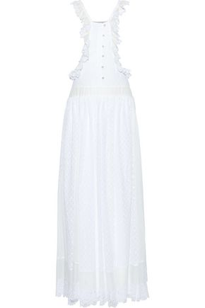 PHILOSOPHY di LORENZO SERAFINI Ruffle-trimmed broderie anglaise georgette maxi dress