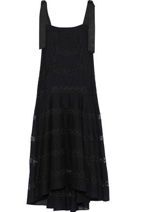 PHILOSOPHY di LORENZO SERAFINI Lace-trimmed cotton-voile midi dress