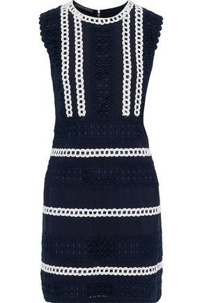 64c38780a729 ALBERTA FERRETTI Cotton-blend grosgrain and guipure lace mini dress